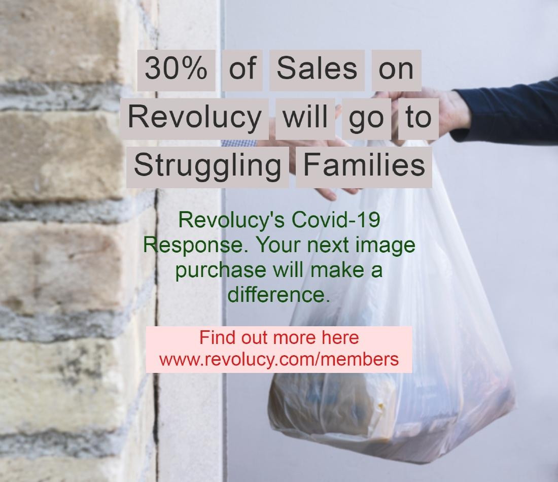 revolucy stock image covid coronavirus charity response